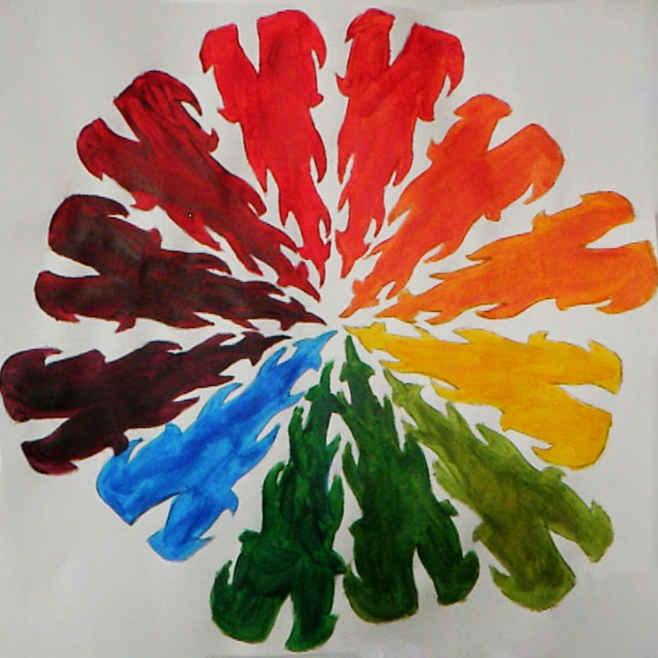 Jerdee\'s Art Classes: Painting: Acrylic Color Wheel