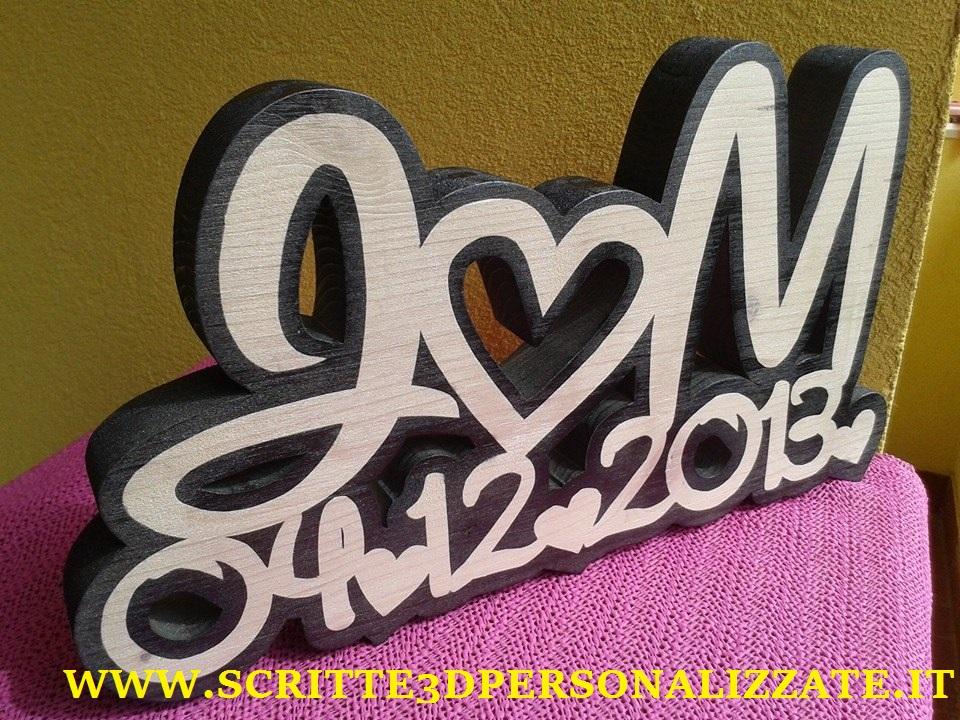 Sritte 3d personalizzate in legno www for Scritte in legno nomi