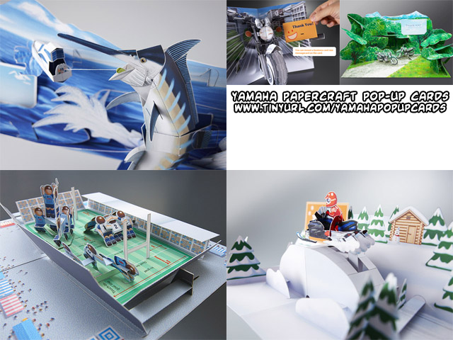 Ninjatoes' papercraft weblog: D/L new Yamaha #papercraft pop-up cards: