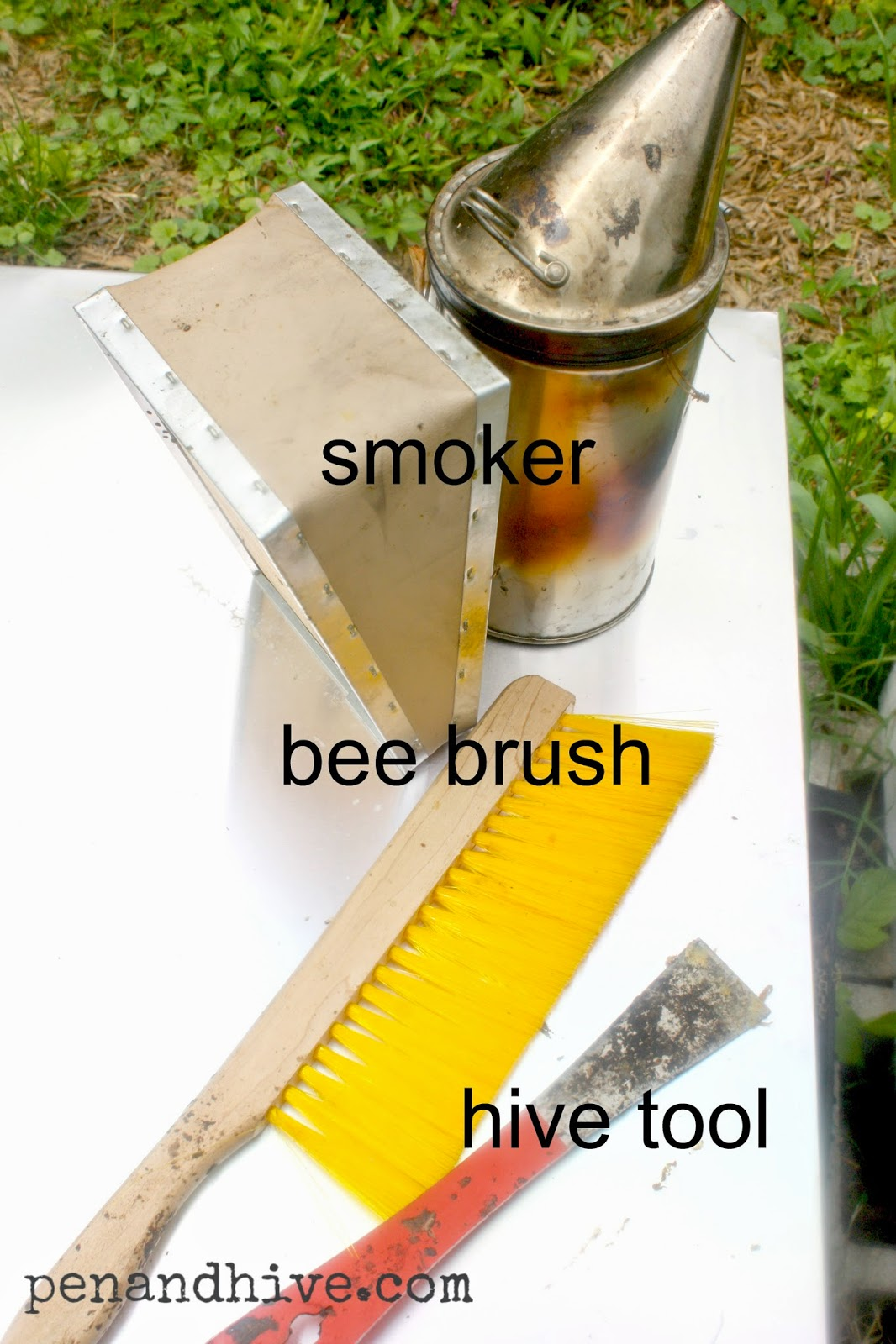 hive tool bee brush smoker