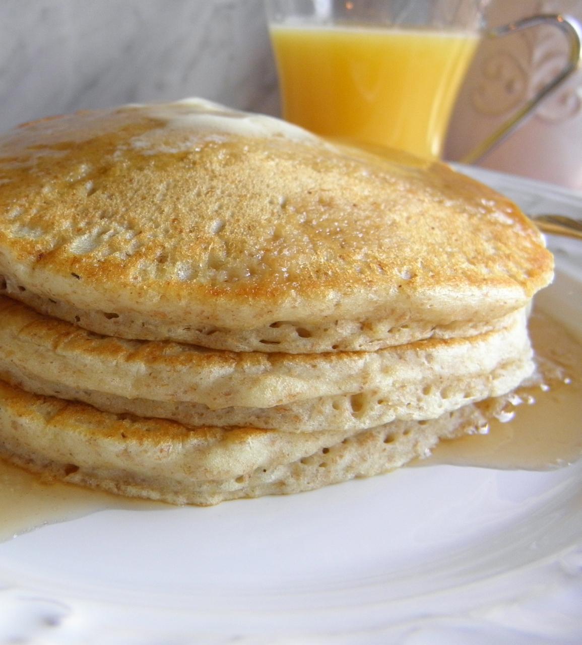 Whole Wheat Pancakes - Taste Love and Nourish
