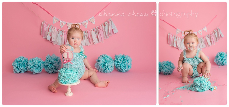 eugene springfield oregon baby photographer one year old cake smash