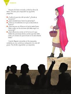 Apoyo Primaria Español 6to Grado Bloque III Lección 8 Adaptar un cuento como obra de teatro