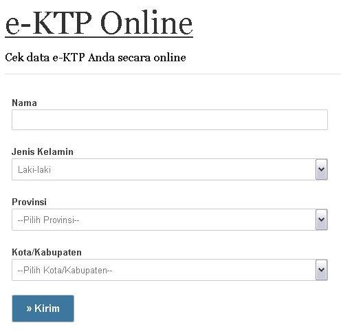 Cara Cek Data e-KTP Anda Secara Online