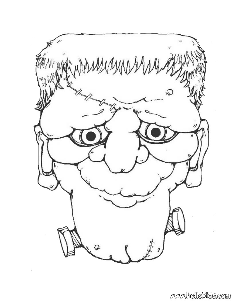 Prof ananda halloween atividades for Halloween frankenstein coloring pages