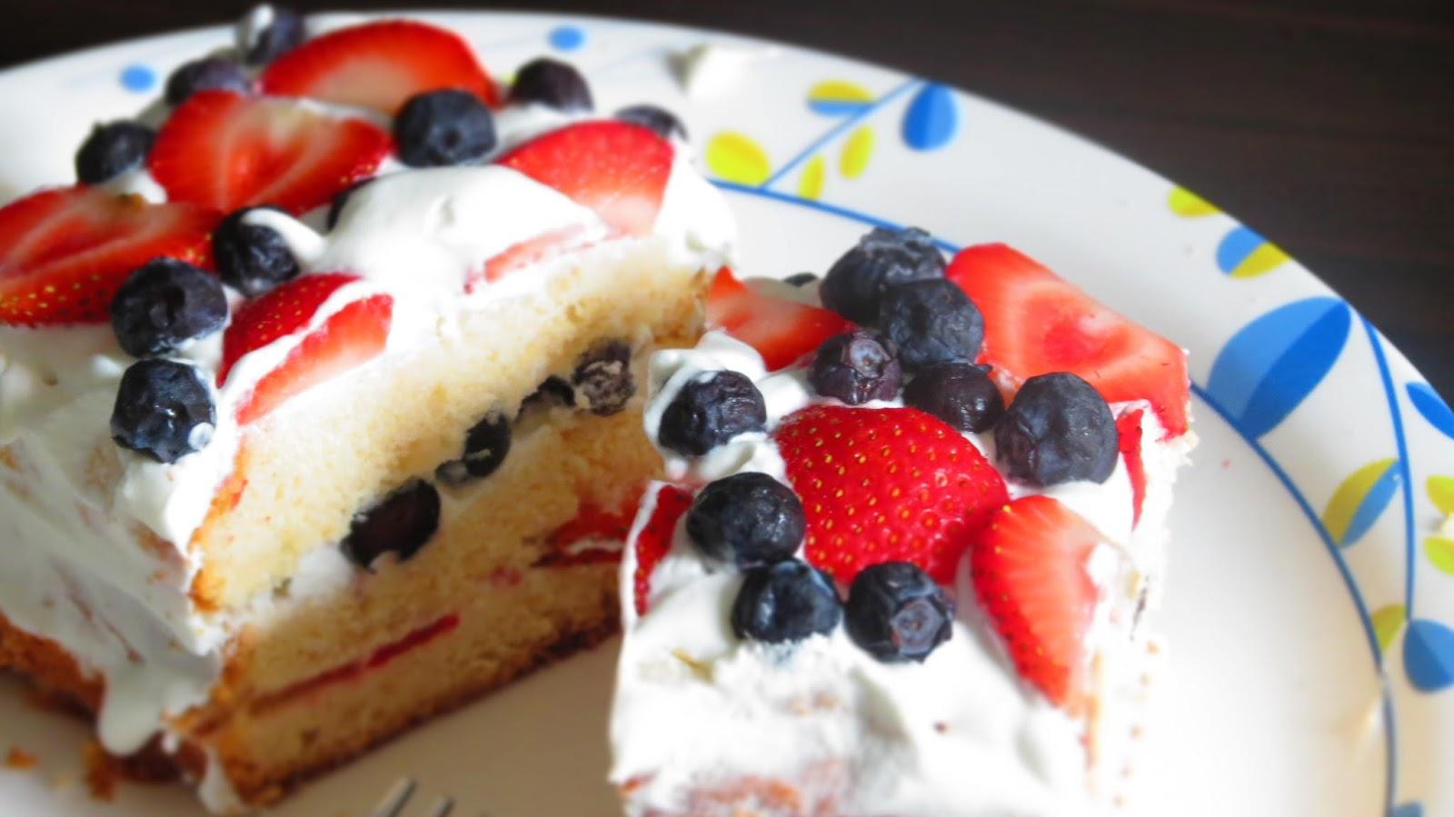 Cake With Whipped Cream And Fresh Fruit : mittu cooking love: Fresh Fruit Cake with Homemade Whipped ...
