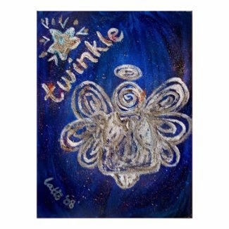 Twinkle Angel Art Print Poster