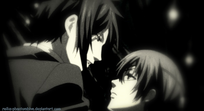 ciel and sebastian kiss - photo #10