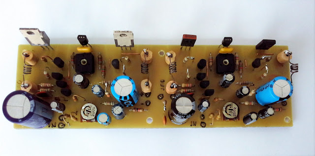 10 W Stereo audio amplifier with transistors PCB photo