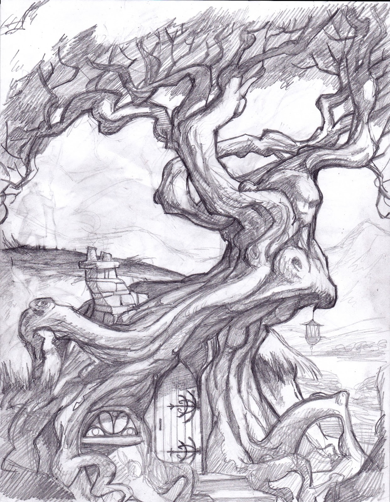 Trippy Tree Sketch Pencil Drawings Related Keywords