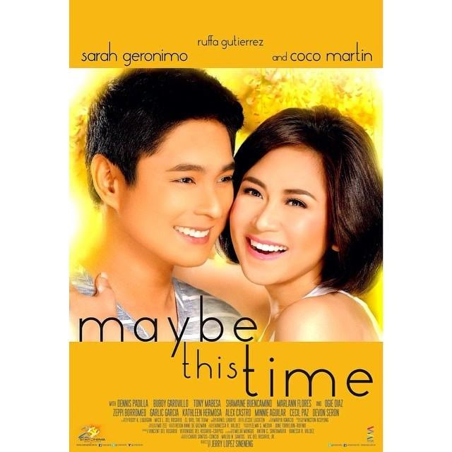 Maybe this time official poster