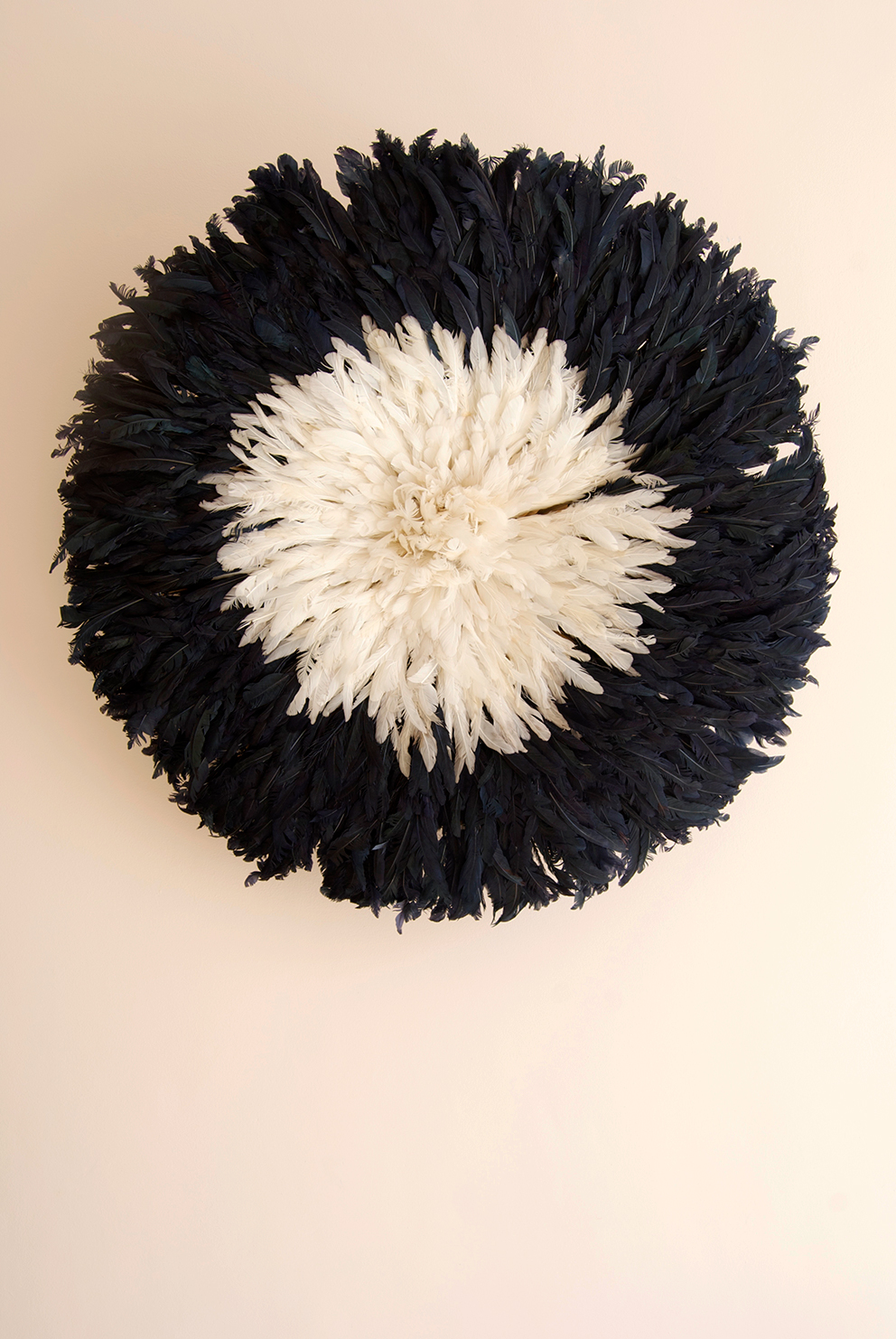 Black and cream juju hat on blush pink wall - French For Pineapple blog