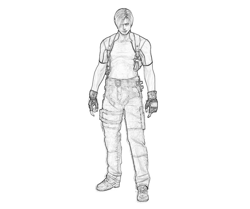 printable-resident-evil-leon-s-kennedy-action_coloring-pages