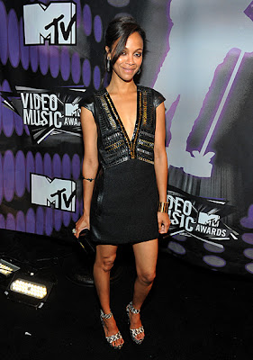 10 Best Fashion at MTV VMA 2011: Zoe Saldana