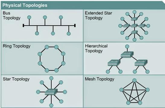 jenis - jenis topologi jaringa