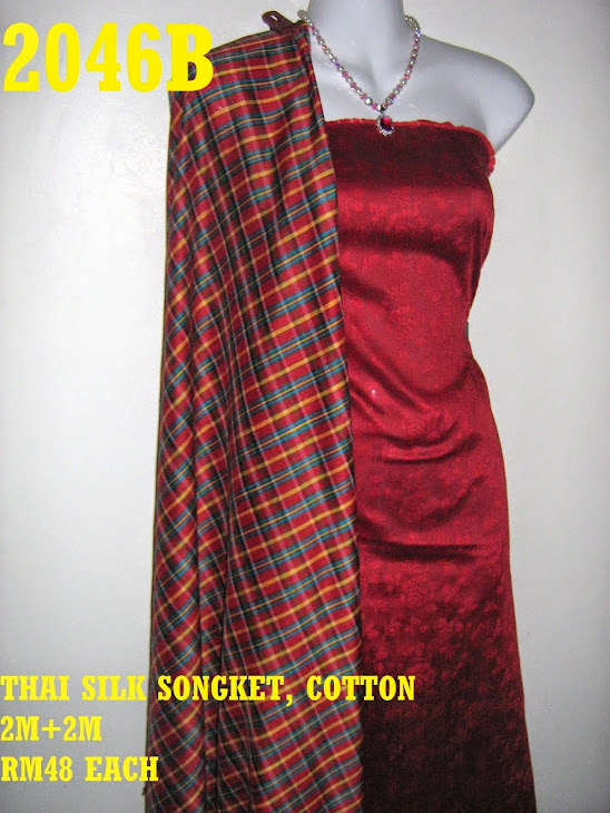 TS 2046B: THAI SILK SONGKET, 2M+2M, MATERIAL COTTON
