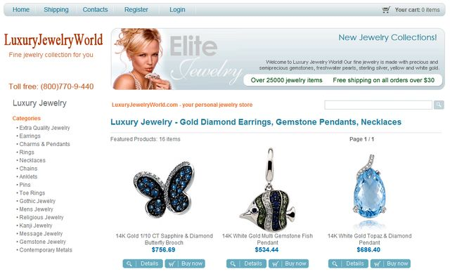 Gold Toe Rings at LuxuryJewelryWorld.com