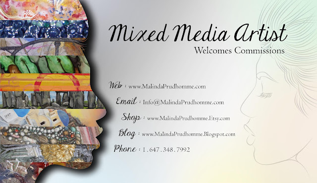 art business card, business card, mixed media art business card