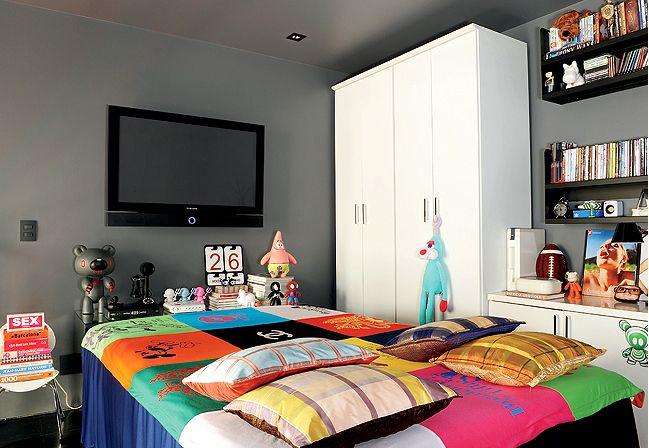 Doce Spray Artesanatos 10 super dicas para decoração de  ~ Quarto Solteiro Com Tv Na Parede