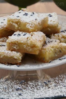 Lavender Lemon Bars | www.girlichef.com