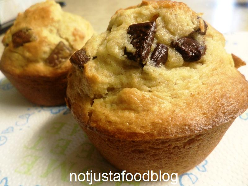 Banana-Chocolate Chip Muffin | Not Just A Food Blog