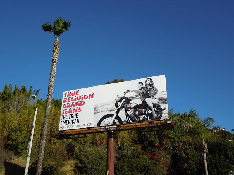 True Religion True American billboard