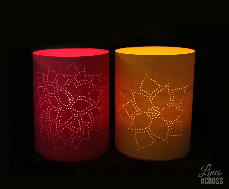 Thumb Tack Paper Lanterns Lines Across