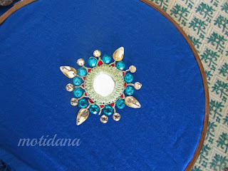shimmering shisha ,mirror work , indian embroidery