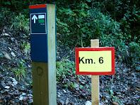 Indicador de sender local al quilòmetre 6 de la caminada