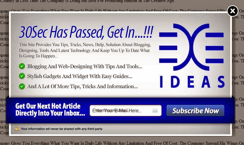Awesome EXE-Style POP-UP V-4 Widget For Blog And Website