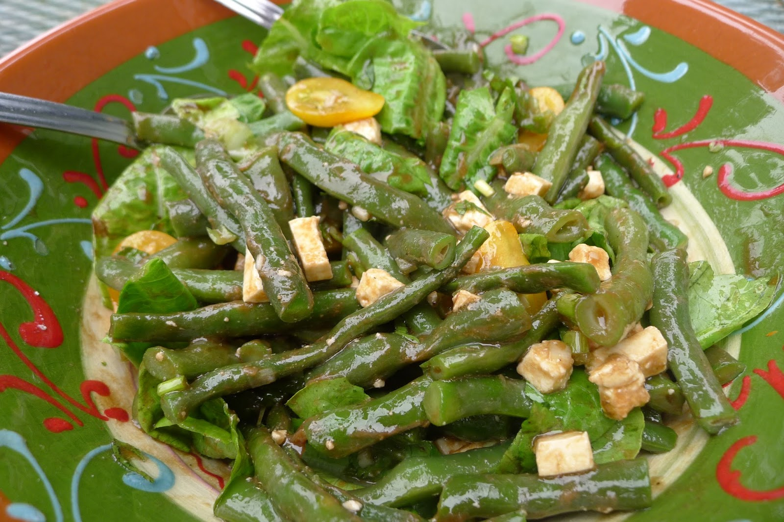 Lemony Green Bean Salad With Feta, Red Onion, And Marjoram Recipes ...