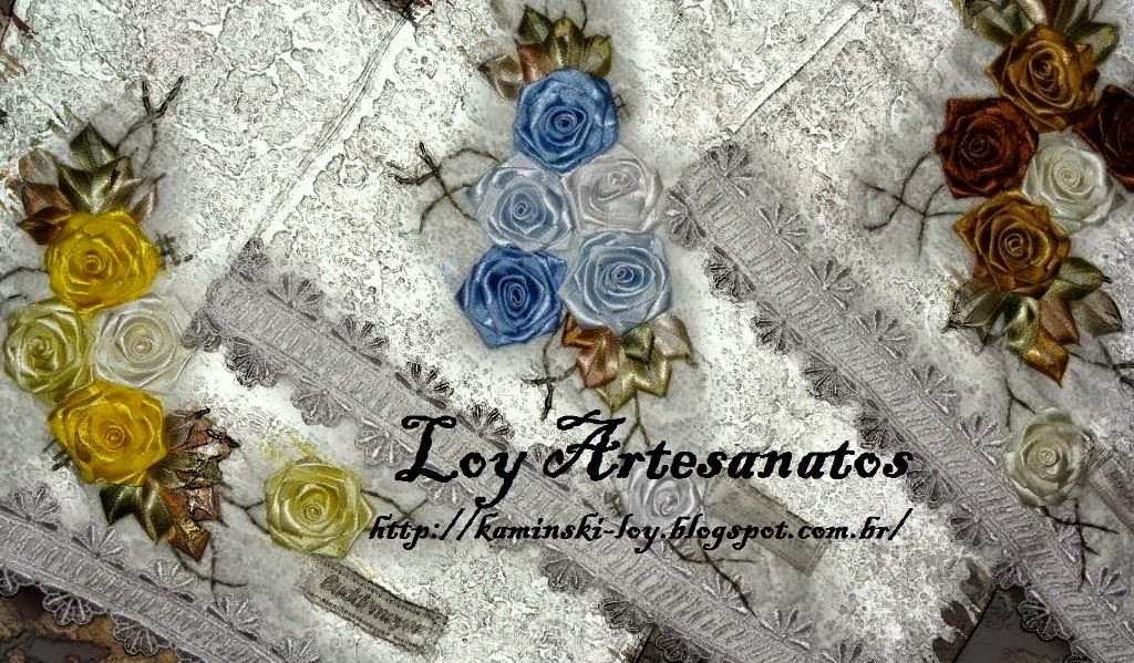 LOY HANDCRAFTS, TOWELS EMBROYDERED WITH SATIN RIBBON ROSES
