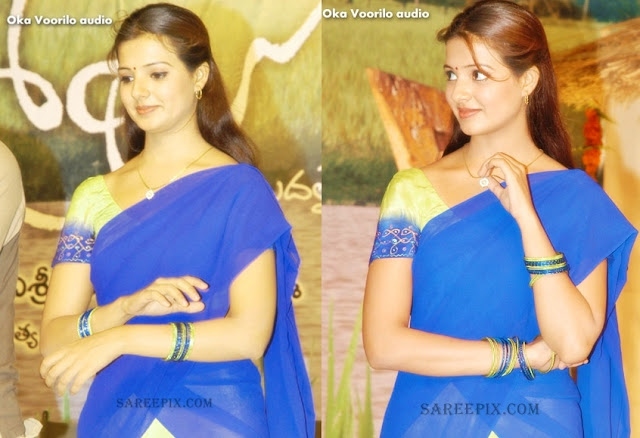 Saloni in blue half saree photos