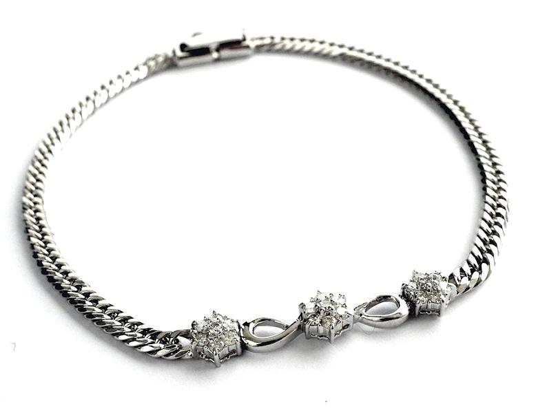 しばらく眠っていたブレスレットのダイヤモンドを利用して娘へのリングを作る。