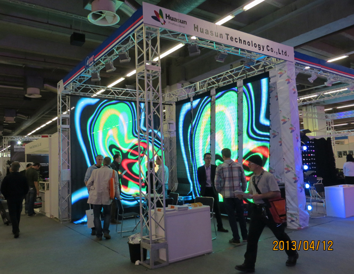 Flexible Led Video Curtain Display Soft Led Screen Rental
