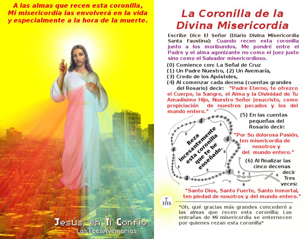 imagen con la coronilla que tiene exelentes promesas del Señor jesus