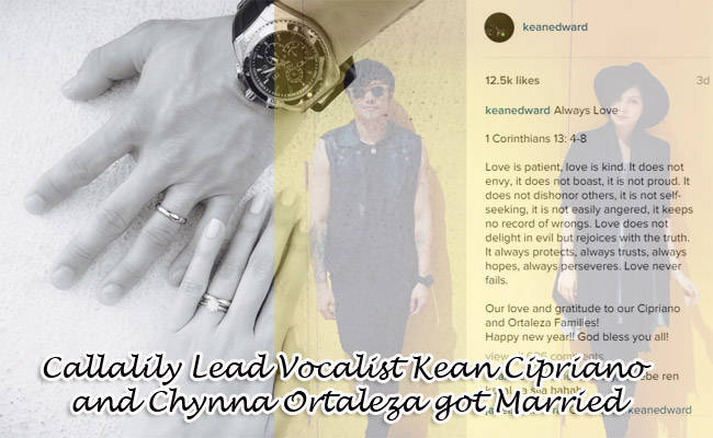 Callalily Lead Vocalist Kean Cipriano and Chynna Ortaleza got Married