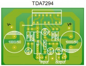 PCB design Stereo 80Watt Audio Amplifier TDA7294