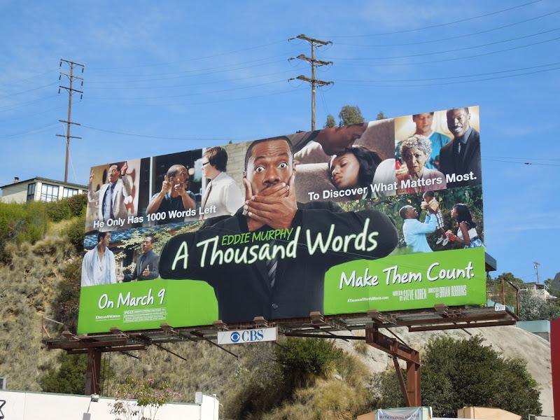 A Thousand Words billboard