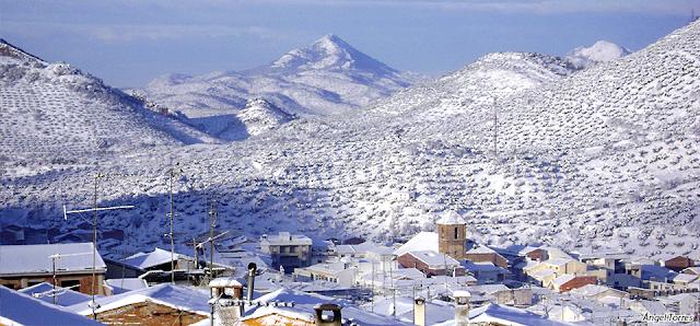 Nieve en Valdepeñas de Jáen