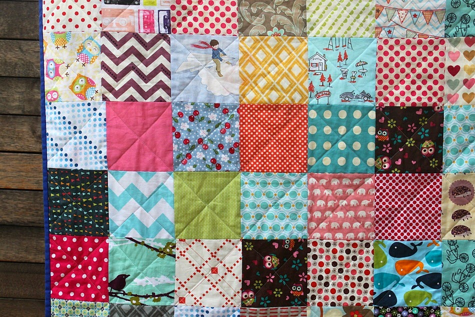Quilt Patterns Using 6 Inch Squares : Scrappy Charm Square Quilt - Sew Delicious