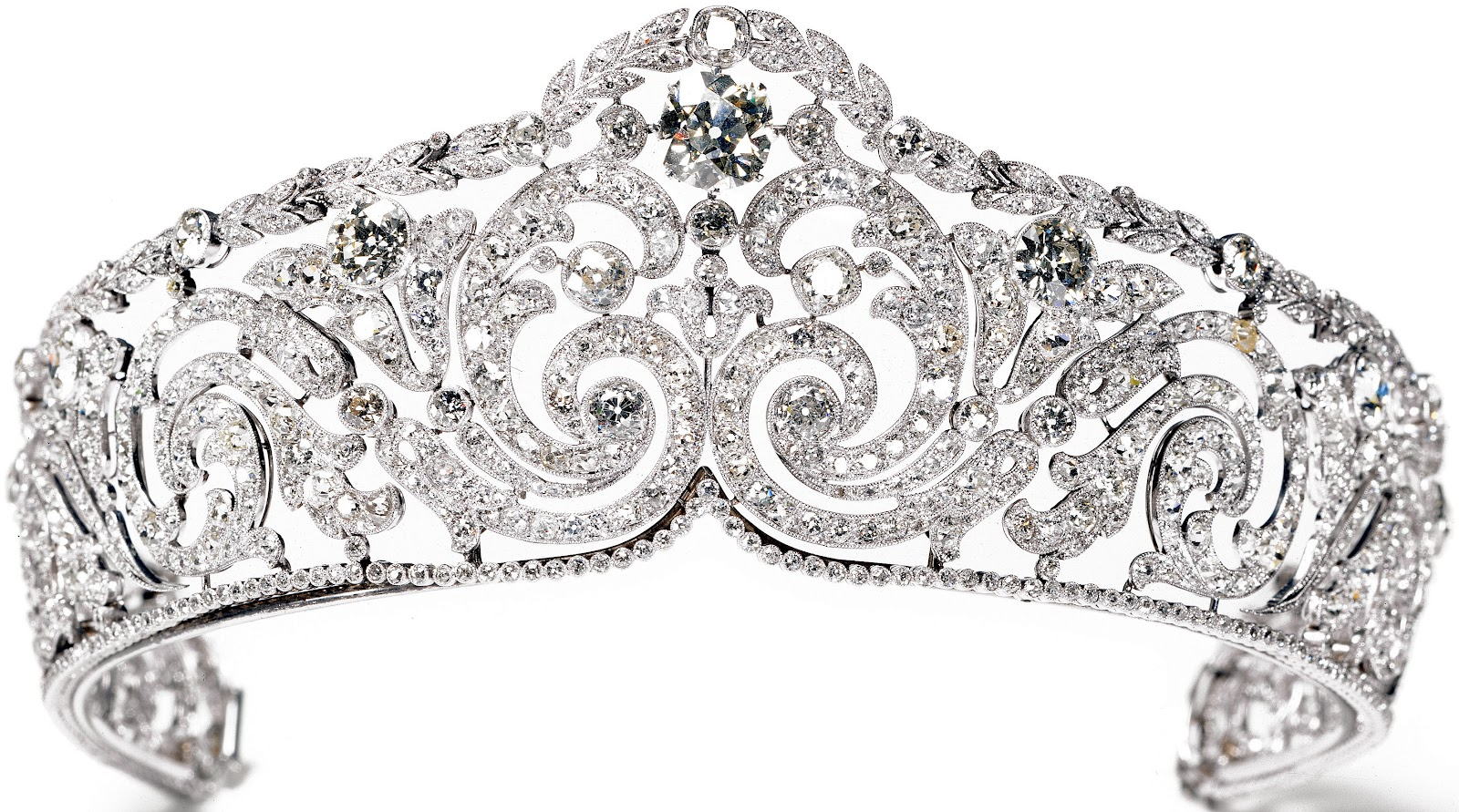 Creation  This tiara was made by Cartier in 1910 Queen Crown Transparent Png