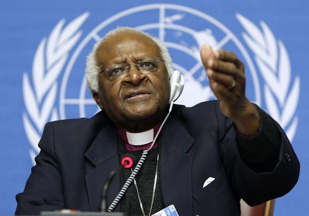 Desmond Tutu apoia a campanha da ONO contra a discriminação homofóbica.