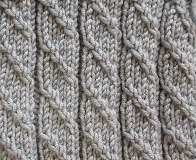 Knitting Stitch Patterns Mock Cable : Textured Knits: RIBBING WITH MOCK CABLE