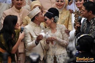 kebaya pengantin artis Ashanty dan Anang