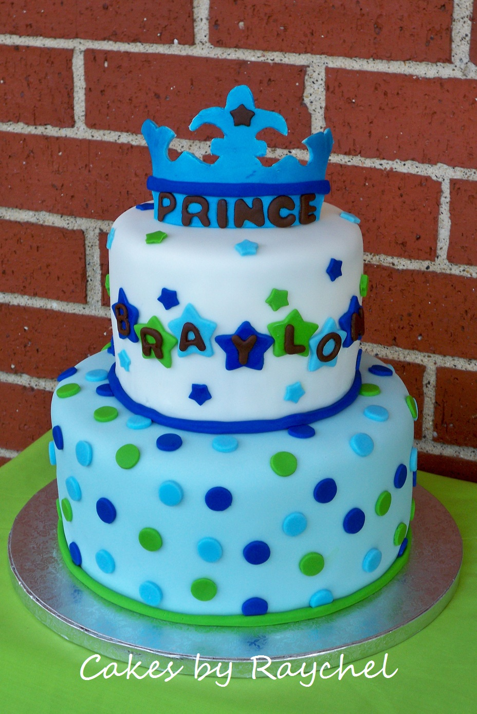 My creative way a new little prince baby shower cake for Baby cake decoration