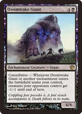 MtG expansion Journey into Nyx black creature Constellation