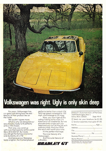 Volkswagen was right.  Ugly is only skin deep.
