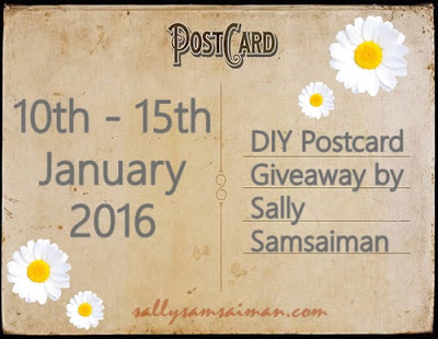 DIY Postcard Giveaway by Sally Samsaiman