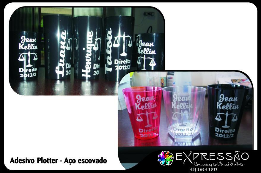 Adesivos De Unhas Oncinha ~ Express u00e3o Comunicaç u00e3o Visual& Arte Copos de Formatura